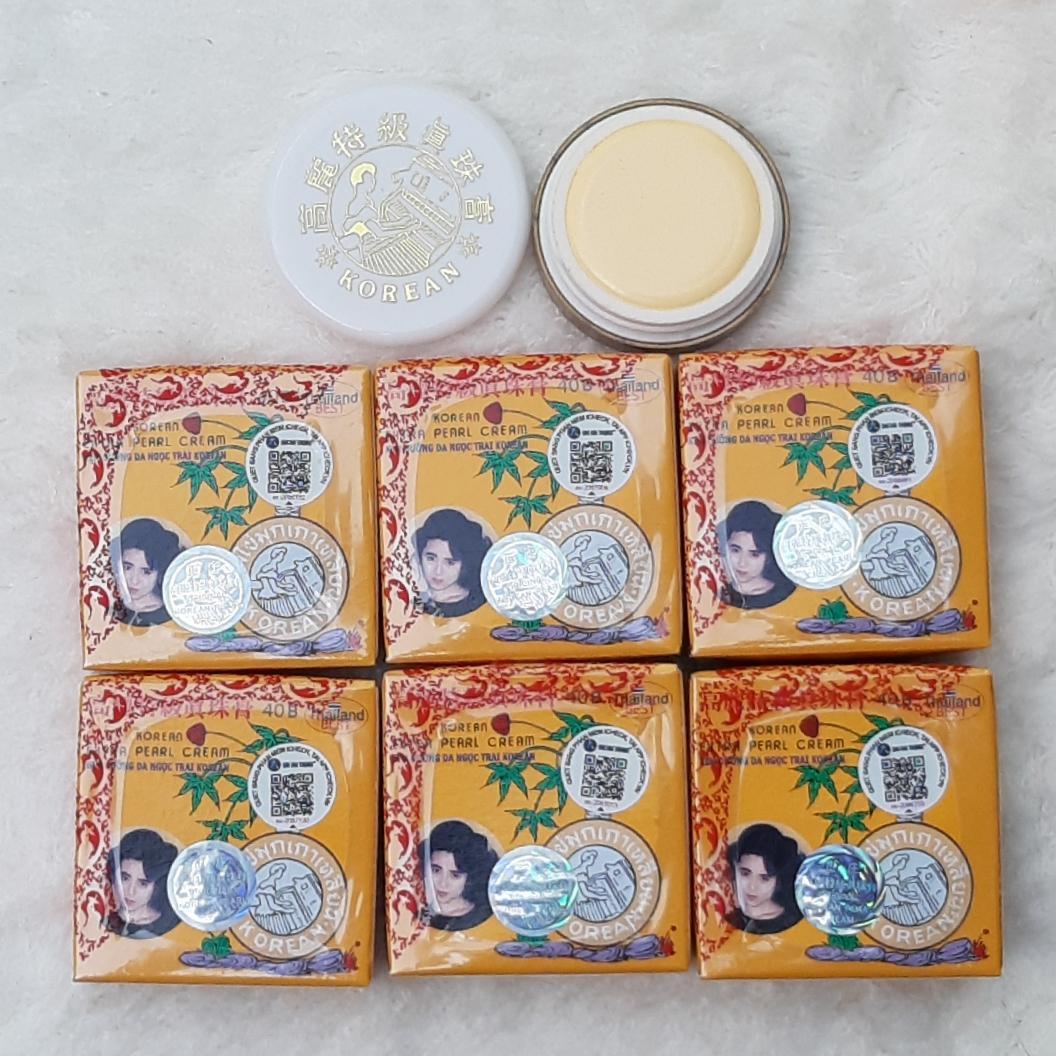 Combo 12 hộp nhỏ kem sâm Vàng Dưỡng da Ngọc Trai Thái Lan 5g nhập khẩu