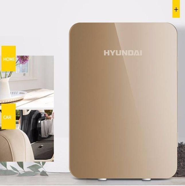 Hanrui Shop Tủ mát Hyundai 20 Lít (Màu Vàng Gold) - Nguồn 12v ô tô /220v điện nhà 2019