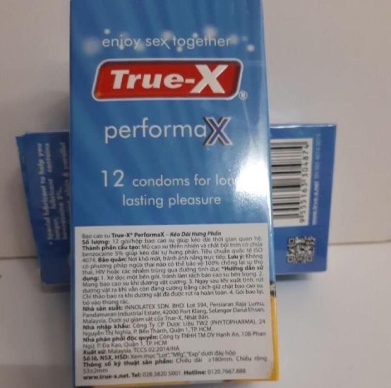 Bao cao su True X ( Hộp 12 cái )