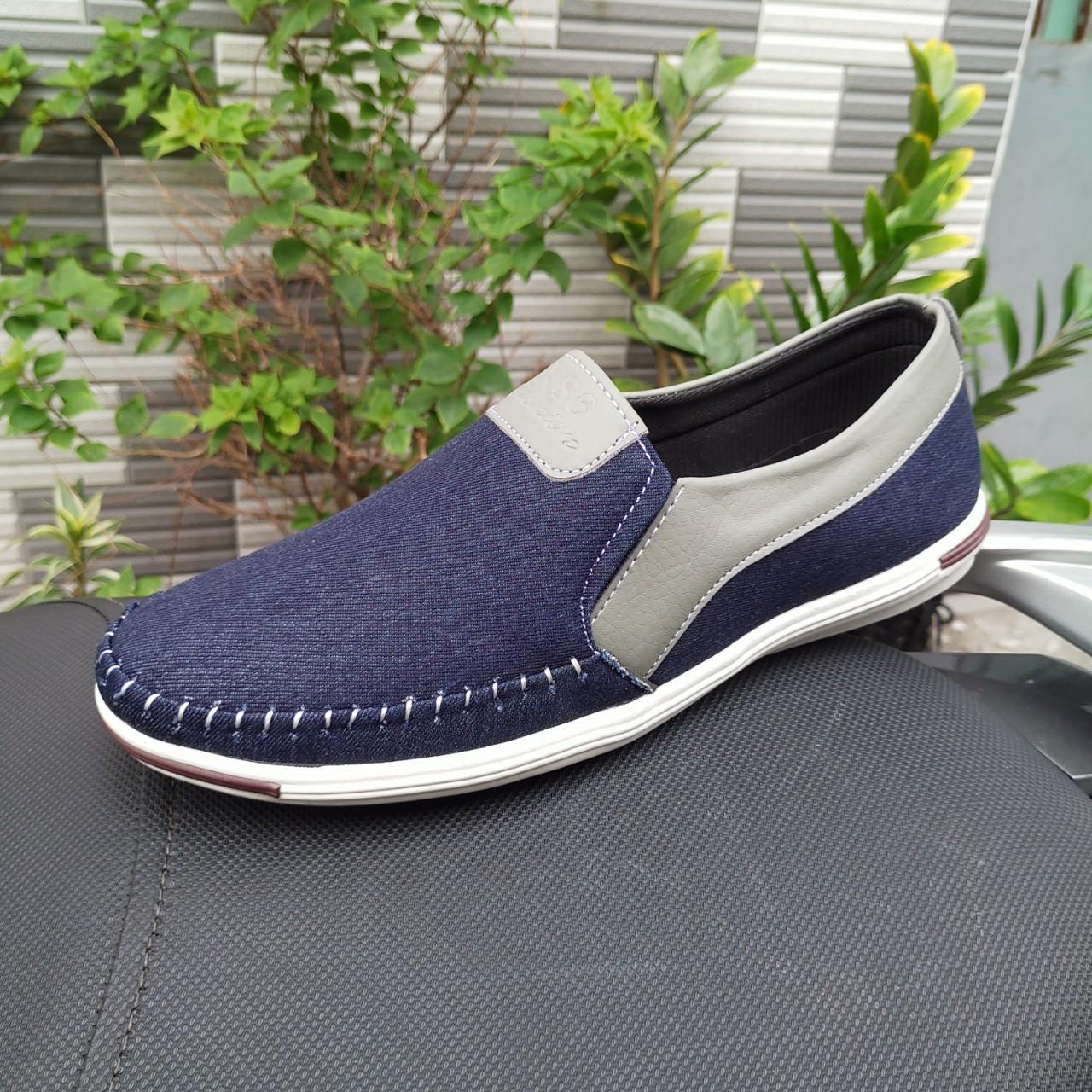 Mã Khuyến Mãi Khi Mua Giày Lười Nam Thời Trang Vải Bố Cao Cấp 4 Màu đen - Nâu -kem - Xanh