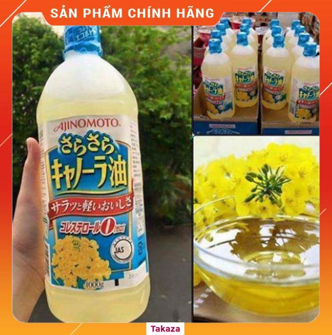 Dầu ăn hạt cải Ajinomoto Nhật Bản mới nhất 2020