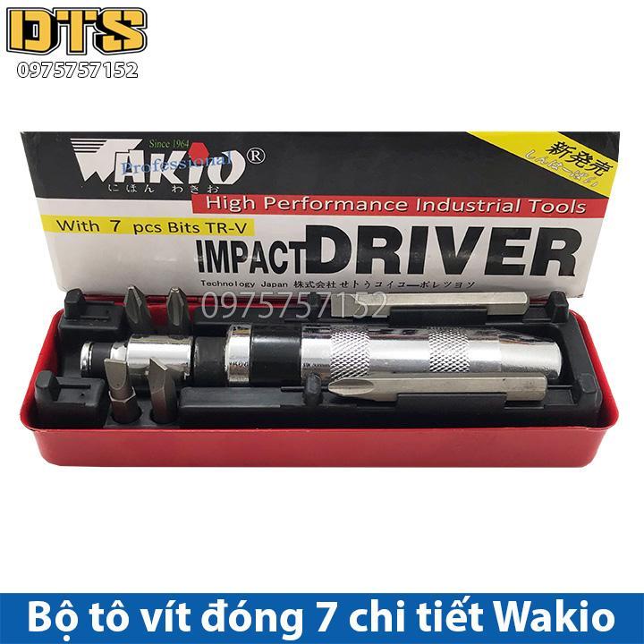 Bộ tô vít đóng 7 chi tiết Wakio - Bộ tuốc nơ vít đóng Wakio IMPACT DRIVE