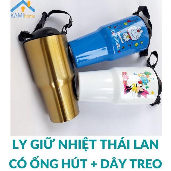 Ly Bình giữ nhiệt Thái Lan 900ml Inox 3 lớp cách nhiệt Kèm Ống hút Cốc uống nước ly coc binh giu nhiet lygiunhiet cocgiunhiet