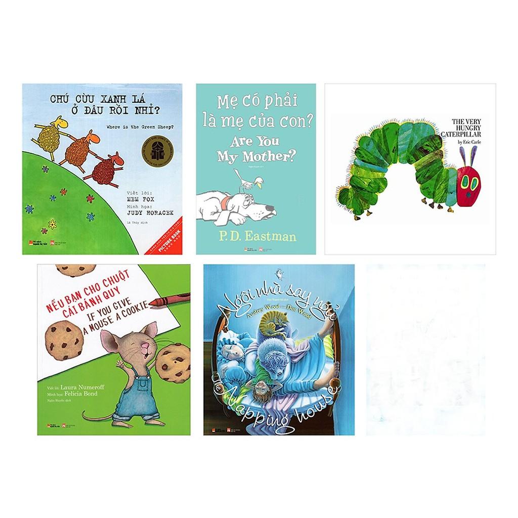 Sách Ehon nhật bản Tranh Song Ngữ Được Khuyến Đọc Tại Mỹ (Combo 5 Cuốn)