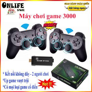 Máy chơi game điện tử cầm tay, Máy chơi trò chơi trẻ em ps3000 4K Ultra Hd Game Stick -2.4G Wireless Controller gamepad - Máy chơi game không dây - tích hợp hơn 3000 games thumbnail