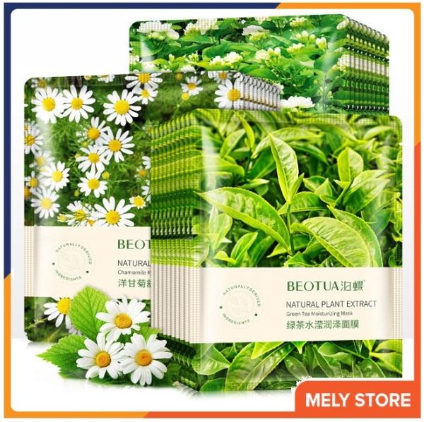Combo 5 mặt nạ giấy dưỡng da hương hoa tự nhiên Beotua hoa nhài, trà xanh giúp dưỡng ẩm, da sáng màu, làm săn và tăng độ đàn hồi, mặt nạ dưỡng trắng da nội địa Trung SPU060