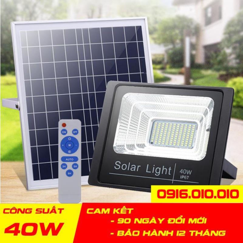 [[Có video]] Đèn năng lượng mặt trời VINDA công suất 40 - 60 - 100 W. Cảm biến ánh sáng tự động bật sáng khi trời tối, và tắt đèn khi trời sáng