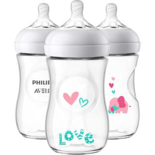 Bình sữa Avent họa tiết-Bình sữa Avent Natural cổ rộng 260ml-HÀNG XÁCH TAY MỸ-CAM KẾT CHÍNH HÃNG thumbnail