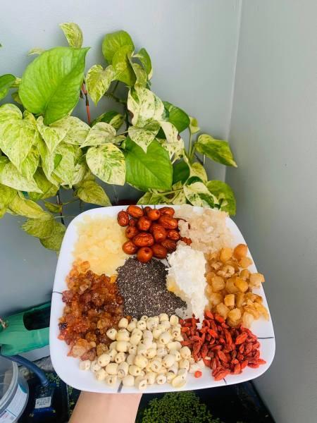 Set Chè dưỡng nhan 10 vị (Nấu được tầm 10-12 chai 330ml đậm đặc) giá rẻ