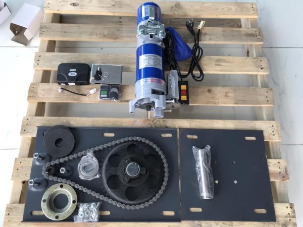 Trọn bộ mô tơ cửa cuốn 800KG - Bao gồm Lắc + Hộp điều khiển + 2 Remote + 1 công tắc gắn tường