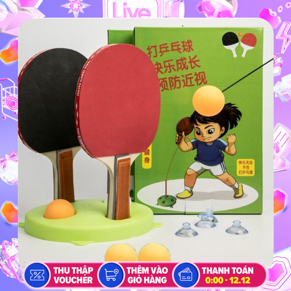 Bóng bàn luyện phản xạ Loại Tốt - Bộ đồ chơi bóng phản xạ - Dụng cụ tập đánh bóng bàn cho mọi lứa tuổi - Sochu Kids