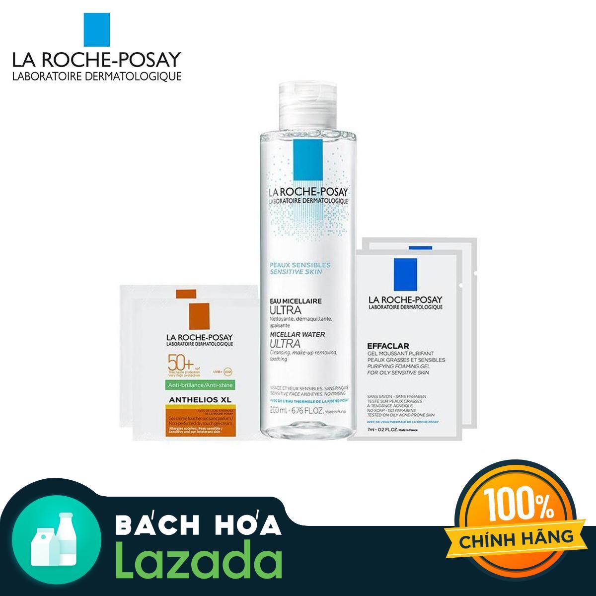 Nước tẩy trang giàu khoáng làm sạch sâu cho da nhạy cảm La Roche Posay Micellar Water Ultra Sensitive Skin 200ML tặng 2x Effaclar Gel 7ML và 2x Anthelios Drytouch 2ML tốt nhất