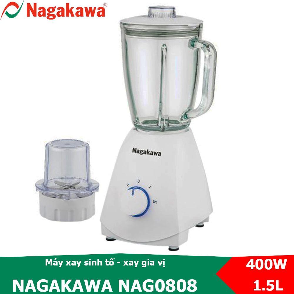 Deal tại Lazada cho Máy Xay Sinh Tố 2 Trong 1, Công Suất 400W Nagakawa NAG0808