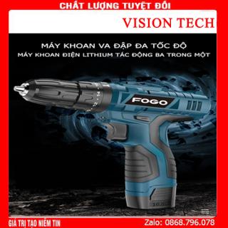 Máy khoan pin FOGO pin 12V , máy khoan đa năng, máy khoan bắn vit, máy khoan cầm tay, bộ máy khoan sửa chữa vặn vít FOGO 12V có đảo chiều máy khoan pin - khoan pin - máy bắn vít - may khoan pin gia re - khoan cầm tay - may khoan pin thumbnail
