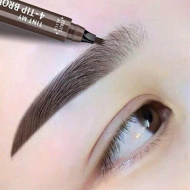 Bút chì kẻ lông mày phẩy sợi thêu tự nhiên-kháng nước Eyebrow nhập khẩu