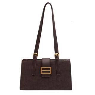 Túi xách nữ đeo chéo hàng hiệu chất liệu da cao cấp - NT28 nâu thumbnail