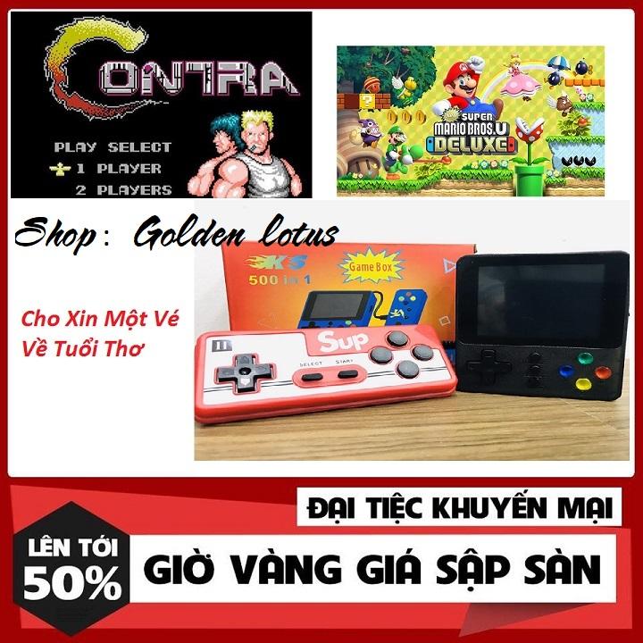 Máy chơi game cầm tay mini sup 500 in 1 nhiều hơn sup 400 - Tặng tay cầm chơi game kết nối tivi TV - máy chơi game cầm tay Sup 2 người chơi 500 trò chơi