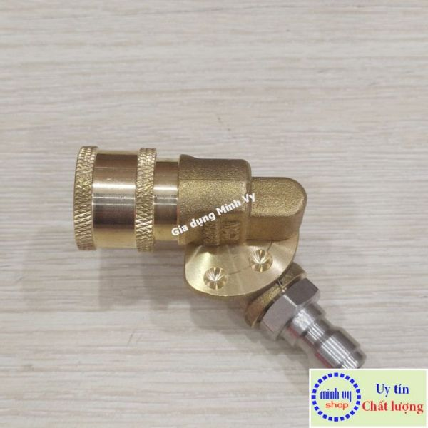 Khớp xoay điều chỉnh 5 góc nối nhanh béc súng xịt rửa của máy rửa xe - Ren nối nhanh 1/4 inch