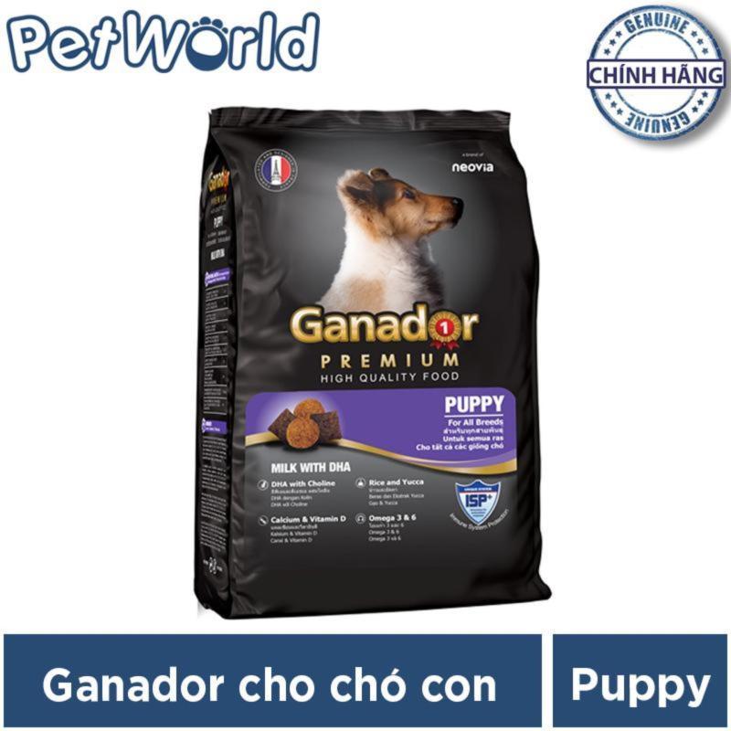 Thức ăn cho chó nhỏ có sữa và DHA giúp chó con thông minh - Thức ăn cho chó Ganador Puppy (400g)