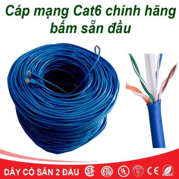 Bảng giá Dây Mạng Cat6 Bấm Sẵn 2 Đầu 30m - Cáp mạng, cáp lan, cáp internet Phong Vũ