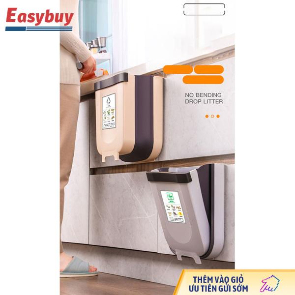 Thùng rác treo cửa tủ gấp gọn thùng rác văn phòng tiện lợi