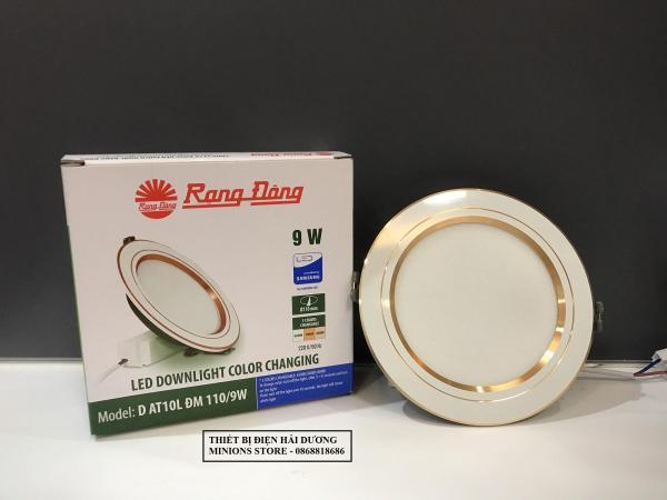 Đèn LED Downlight 3 chế độ Rạng Đông D AT08L ĐM 110/9W (Viền Trắng/Viền Vàng)