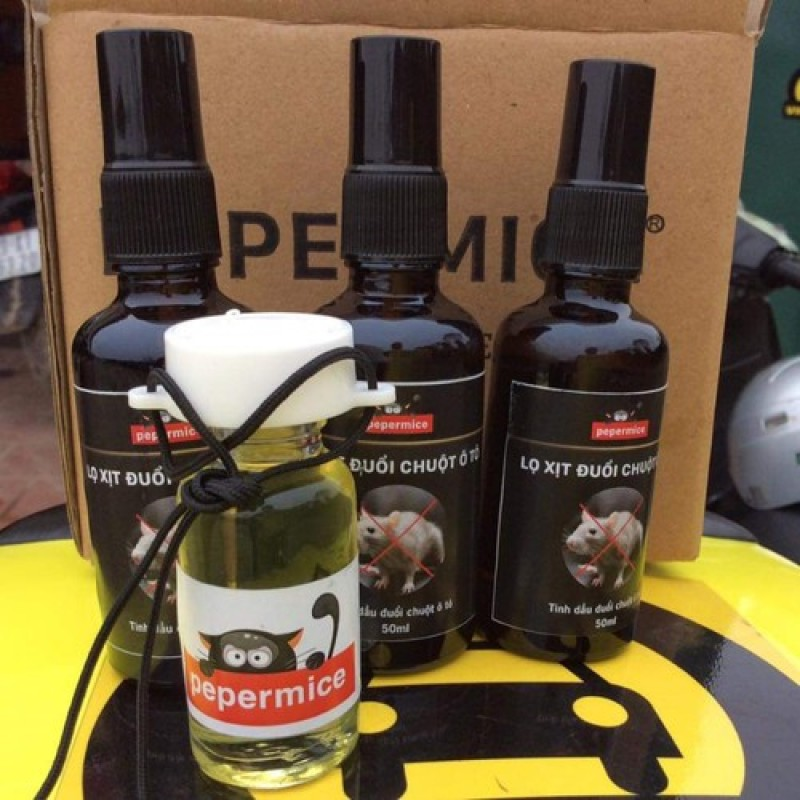 Combo 2 lọ tinh dầu chống chuột Pepermice
