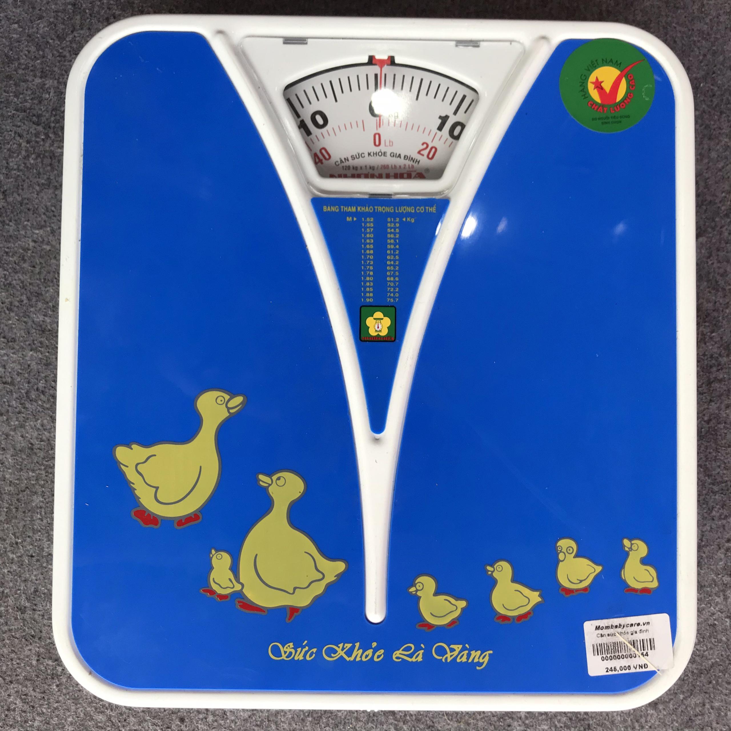 Cân sức khỏe giúp kiểm soát cân nặng cho cả gia đình