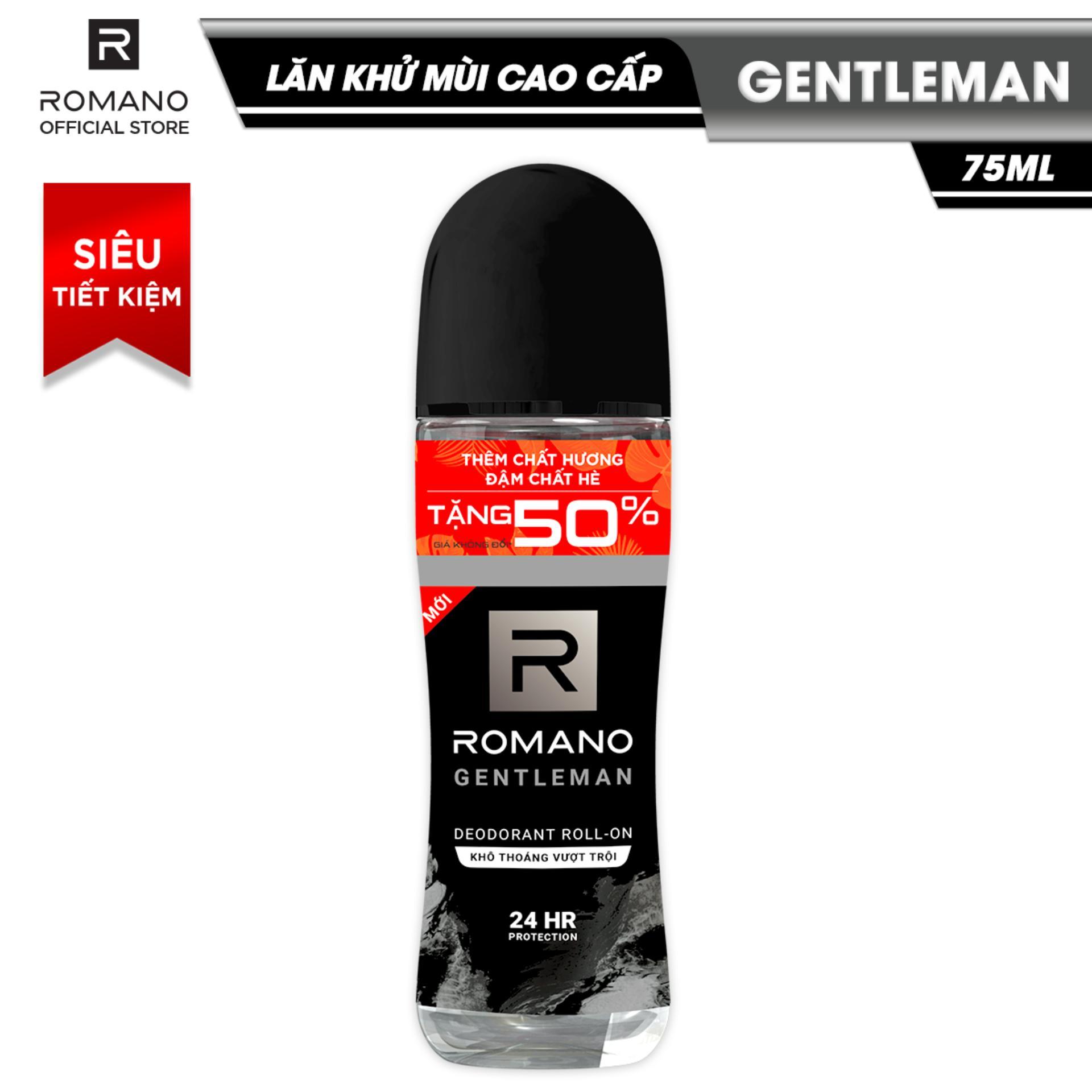 Lăn khử mùi cao cấp Romano Gentleman 75ml (TẶNG 50%) nhập khẩu