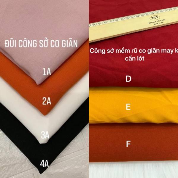 1m và 1,5m vải đũi công sở dày dặn mềm rũ co giãn may không cần lót