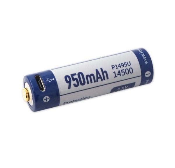 Pin sạc Li-ion KeepPower 14500 3.6V 950mAh  USB P1495U