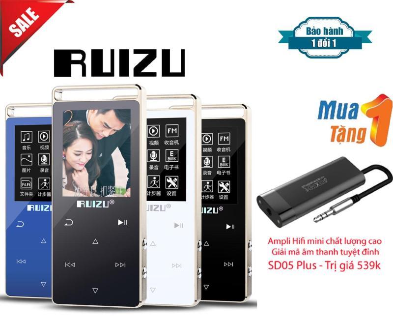 Máy Nghe Nhạc Lossless Thể Thao HiFi Ruizu D01 + Ampli Mini HiFi hỗ trợ giải mã âm thanh chất lượng cao SD05 Plus