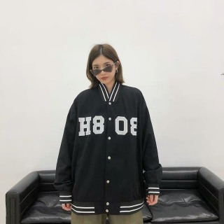 Áo khoác hoodie nữ phong cách bomber sành điệu fom rộng phủ mông thumbnail