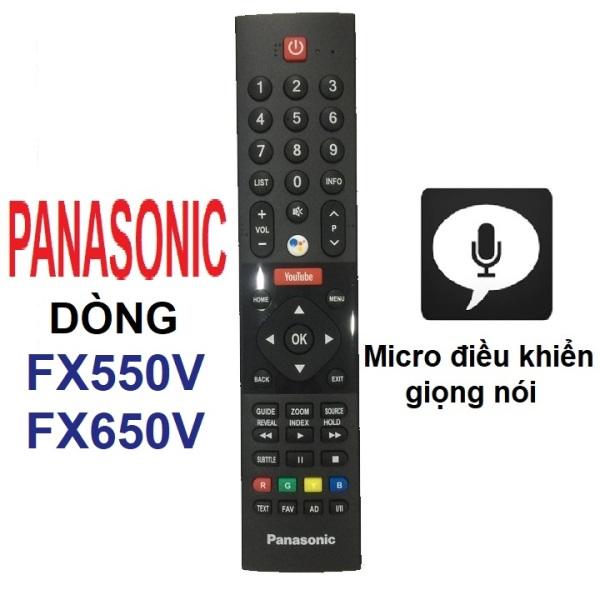 Bảng giá Remote điều khiển tivi Panasonic có micro Panasonic android tv dòng FX550V FX650V (Micro điều khiển giọng nói)