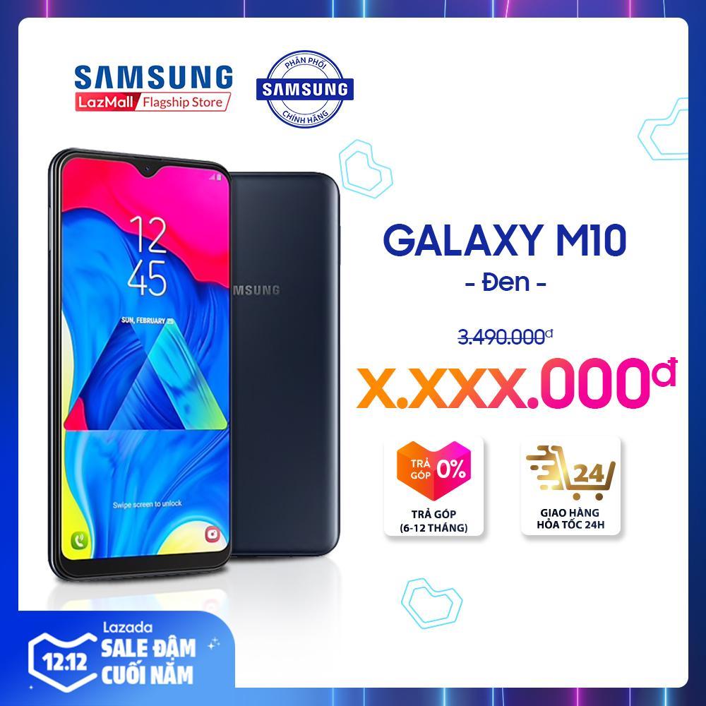 Điện Thoại Samsung Galaxy M10 16GB (2GB RAM) - Màn Hình Tràn Infinity-V 6.2'' HD, Camera Kép Góc Siêu Rộng 13MP/5MP + 2 SIM Nano + Pin 3400 MAh - Hàng Phân Phối Chính Hãng. Không Thể Rẻ Hơn tại Lazada