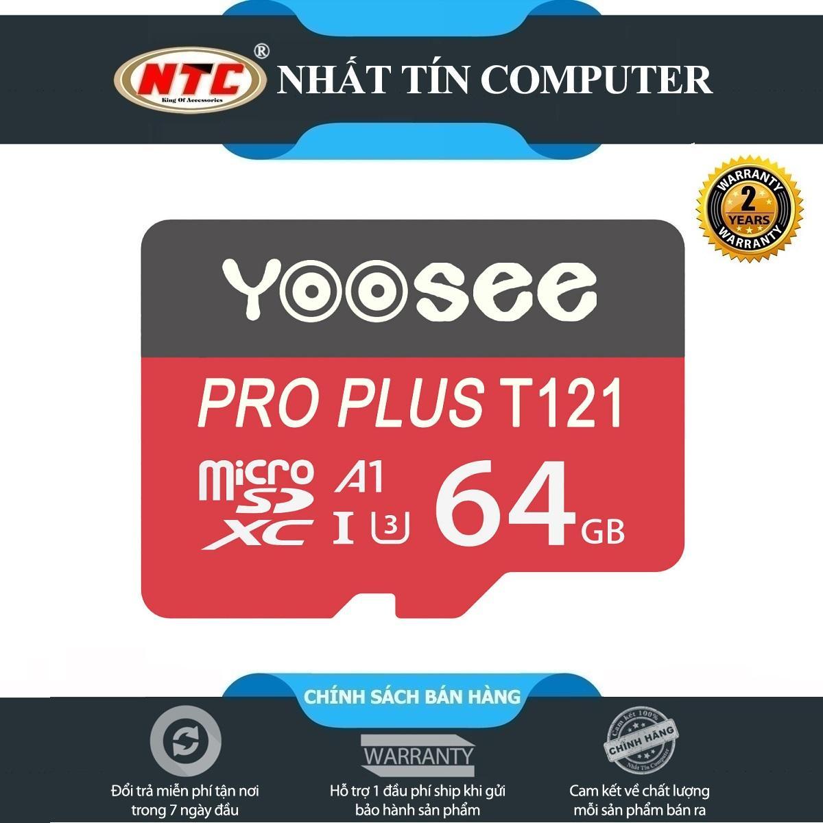 [HCM]Thẻ nhớ MicroSDXC Yoosee Pro Plus 64GB A1 U3 4K R95MB/s W45MB/s (Đỏ) - Nhất Tín Computer