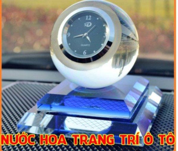 Nước Hoa Đồng Hồ Pha Lê Trang Trí Taplo Khử Mùi Xe Hơi Ô Tô