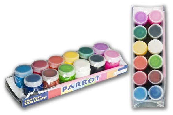 Mua Bộ 12 màu vẽ cao cấp Parrot kèm cọ tặng thêm khay pha màu 6 ô