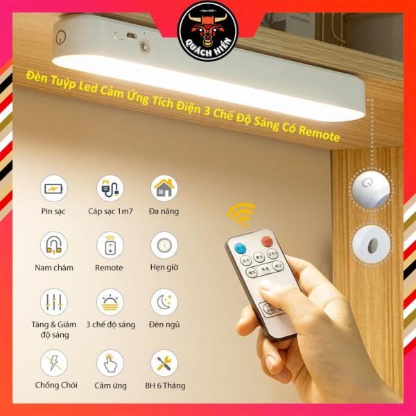 Bảng giá [MẪU MỚI] Đèn Tuýp Led Cảm Ứng Tích Điện Đa Năng 3 Chế Độ Sáng Có Remote, Để Bàn Học Bảo Vệ Mắt, Gắn Phòng Ngủ