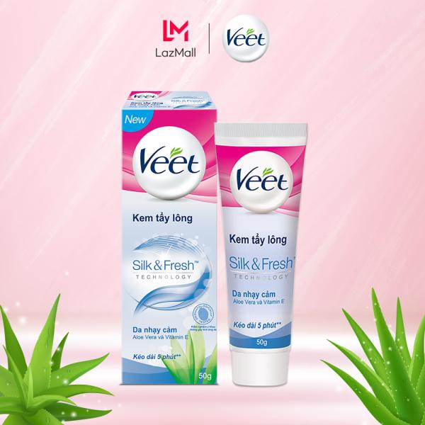 Kem tẩy lông cho da nhạy cảm Veet Silk Fresh 50g nhập khẩu
