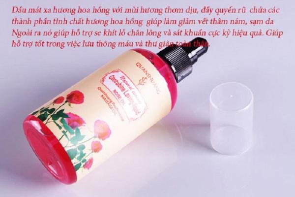 Dầu massage hương thơm thiên nhiên quyến rũ 200ml - Hương Tulip - Hoa hồng - Trà Xanh