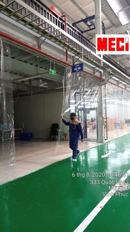 Rèm nhựa PVC khổ lớn dày 1mm đơn giá trên m2