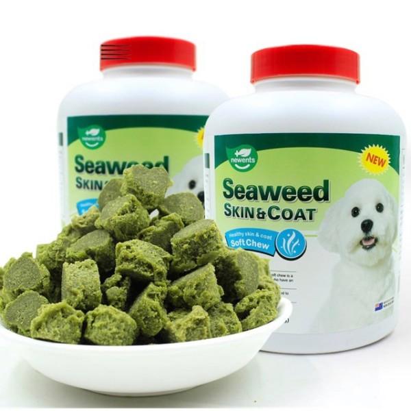 Thức ăn dưỡng lông cho chó lông trắng -Seaweed Skin&Coat- Hộp 500 viên