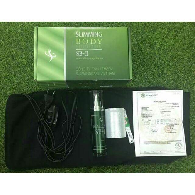 Bộ ủ nóng tan mỡ slimming body sb2 (đai điện ủ nóng + tinh dầu + thước dây + màng bọc nilong) giảm 10-15cm