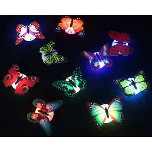Bảng giá [Giá sỉ] Đèn LED hình con bướm xinh xắn dán tường