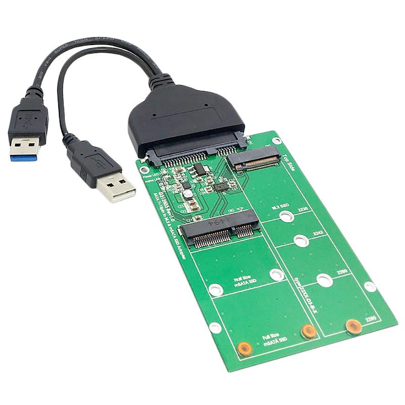 Bảng giá Usb 3.0 To Sata 22Pin 2.5 Inch Hard Disk To 2 in 1 Combo Mini Pci- E 2 Lane M.2 Ngff & Msata Ssd Adapter Converter Phong Vũ
