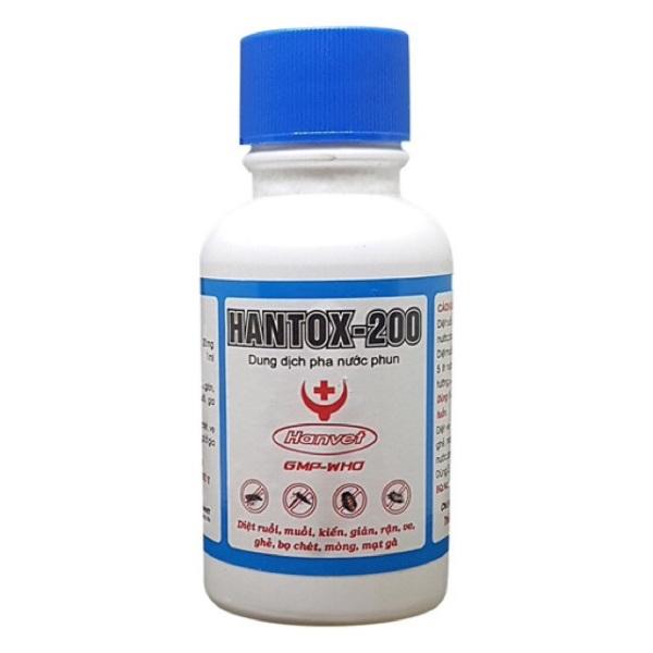 HANTOX 200 (NẮP XANH) - DUNG DỊCH PHA NƯỚC DIỆT VE BỌ CHÉT GHẺ RUỒI MUỖI