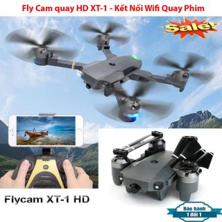 Fly Cam Gía Rẻ, Máy Bay Điều Khiển Từ Xa XT-1 Kết Nối Wifi Quay Phim Chụp Ảnh Full HD, Chế độ không đầu (Headlees Mode), Chế độ nhào lộn 360 độ kinh điển, Khoảng cách điều khiển xa 80-100m, Hình Ảnh Sắc Nét Bảo Hành Uy Tín 1 Đổi 1 thumbnail