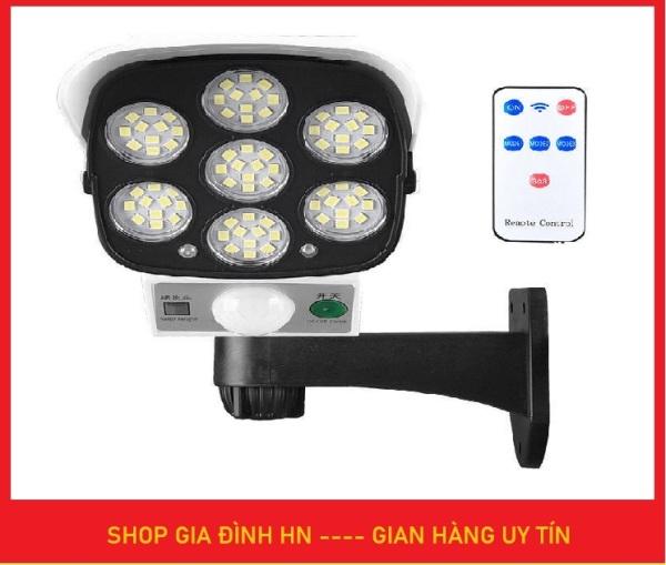 Đèn năng lượng mặt trời cảm ứng tự động BẬT TẮT có điều khiển - Giả camera chống trộm - Bảo hành 3 tháng Lỗi 1 đổi 1