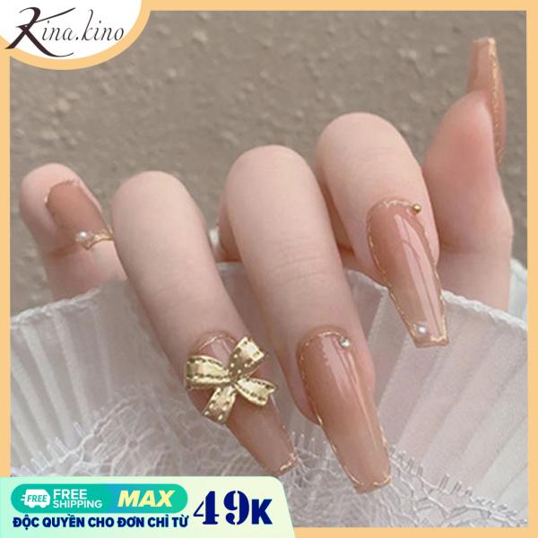 Móng tay giả đá cao cấp- nail giả đính đá mẫu mới HOT 2021- Kinakino phukienlamdep giá rẻ